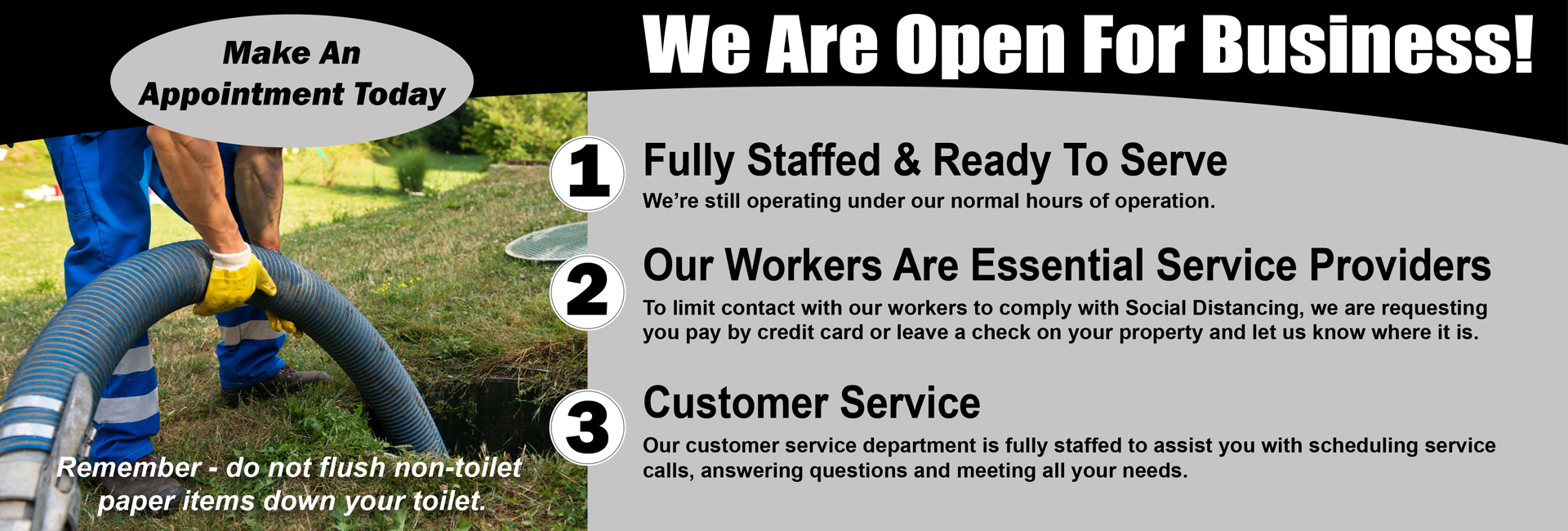 We Are Open - Covid 19 Update